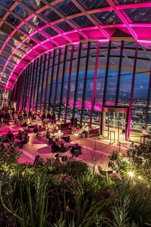 Rooftop Venues London for Bar Mitzvah Parties Sky Garden